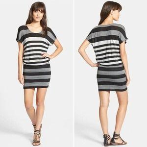 Soft Joie Brix Blouson Dress Stripe Stretchy Knit